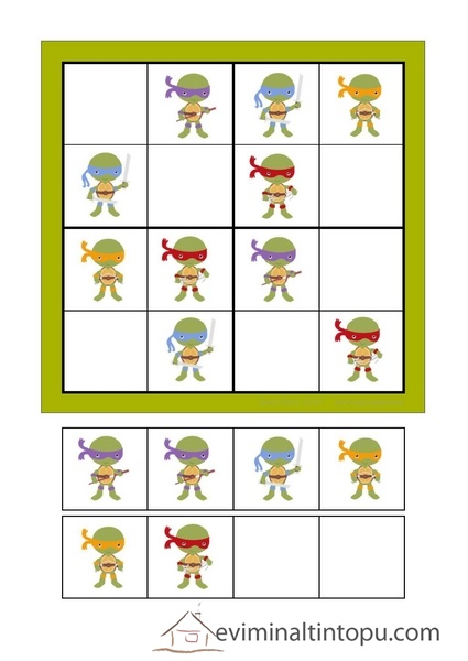 Okul Oncesi Sudoku Calisma Sayfasi