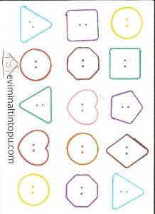 okul öncesi geometrik şekiller temalı etkinlikler