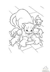 okul öncesi kedi boyama çalışması