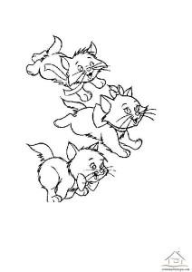 okul öncesi kedi boyama
