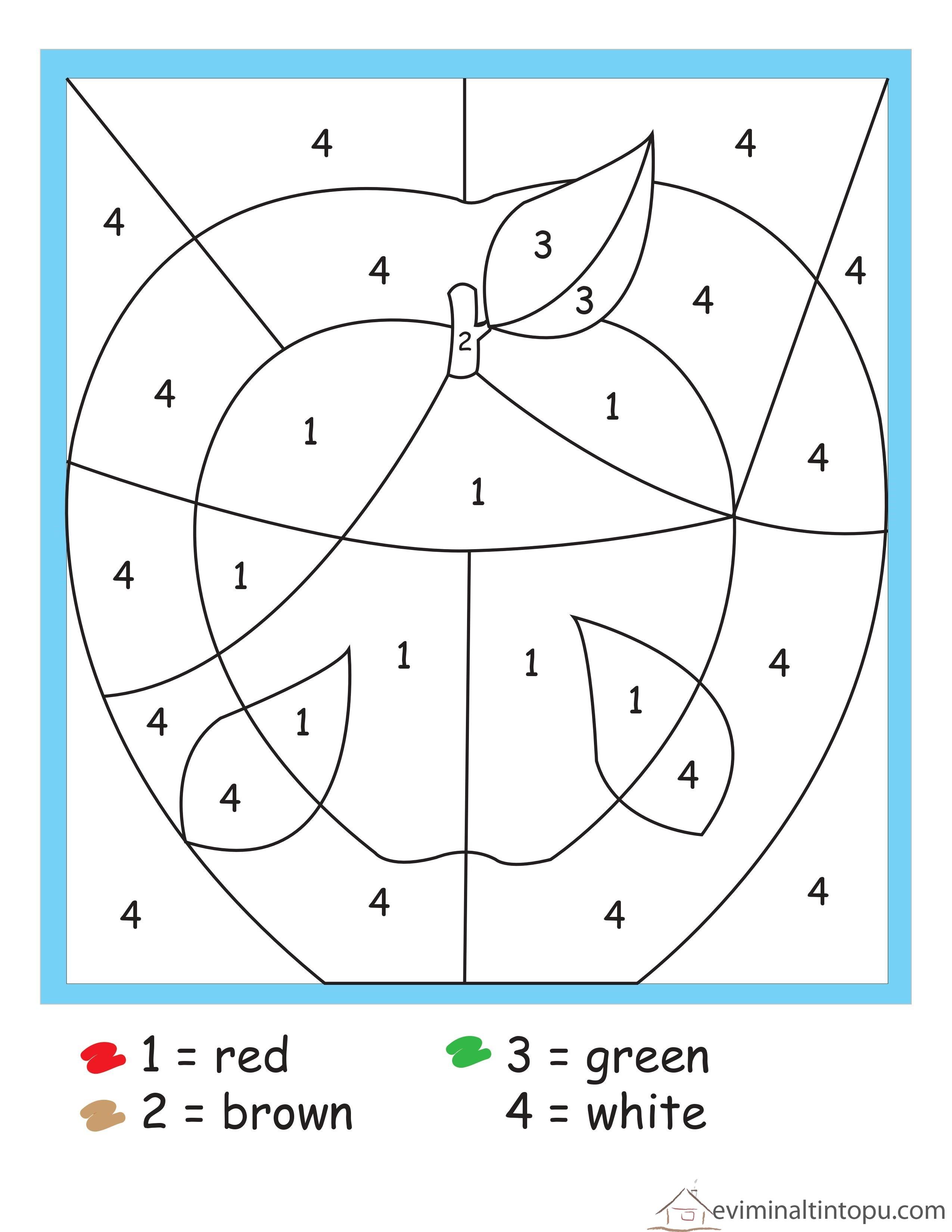 Matematik Boyama çalışmaları Evimin Altın Topu