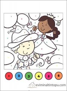 okul öncesi rakam boyama sayfaları