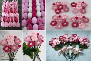 ponpondan çiçek demeti etkinliği