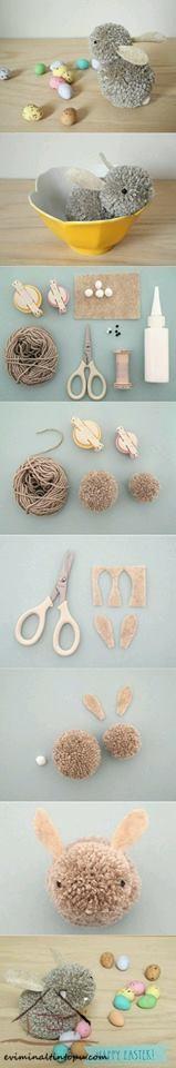 ponpondan hayvanlar yapımı