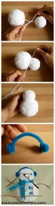 ponpondan kardan adam yapımı