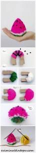 ponpondan karpuz yapımı