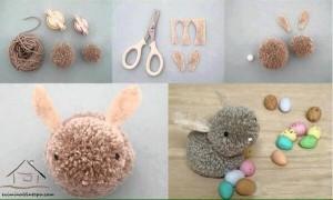 ponpondan tavşan yapımı