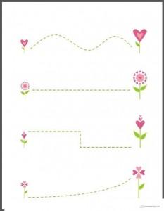 renkli çizgi çalışmaları çiçekler