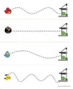 renkli çizgi çalışmaları angry birds