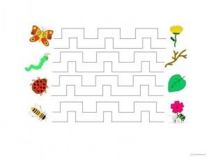 renkli çizgi çalışmaları böceklerle