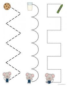 renkli çizgi çalışmaları farelerle