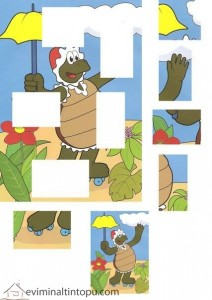 renkli resim tamamlama kaplumbağa