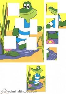 renkli resim tamamlama timsah