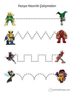süper kahramanlar yazıya hazırlık