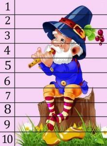 sayı puzzle çalışmaları