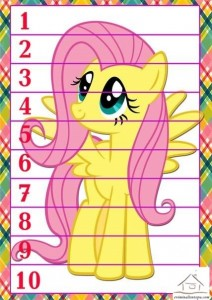 sayı puzzle etkinliklkeri pony