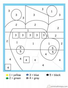 Matematik Boyama Calismalari Evimin Altin Topu