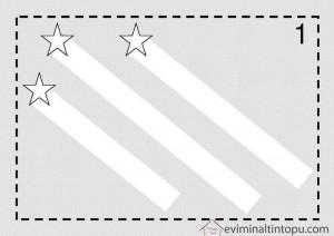 yıldız ile çizgi