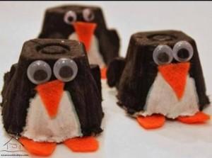 yumurta kutusundan penguenler