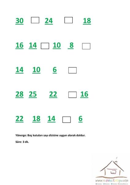 2sınıf Dikkat Etkinlikleri Dikkat Testleri Evimin Altın Topu