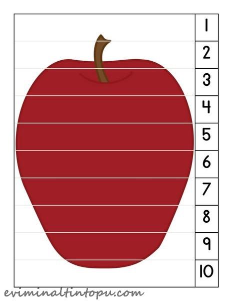 Elma Temalı Etkinlik Sayfaları Evimin Altın Topu