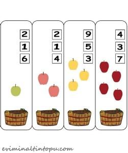 mandal ile sayı çalışması elma temalı (1)