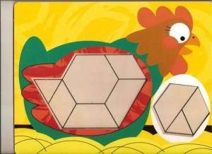 çiftlik hayvanları  temalı tangram örüntü blokları