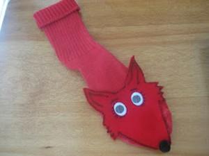 çoraptan tilki kuklası yapımı