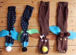 çoraptan yapılabilecek eğlenceli kuklalar