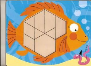 balık  temalı tangram örüntü blokları
