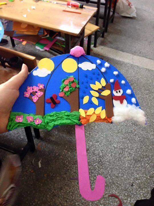 Dort Mevsim Sanat Etkinlikleri Okul Oncesi Mevsim Calismalari