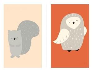 şablonları ile hayvanlar dikiş kartları