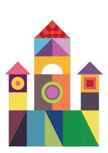 farklı şekiller ile kale inşa etme oyunu (2)