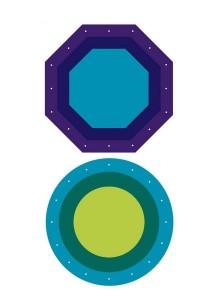 geometrik şekiller dikiş kartları