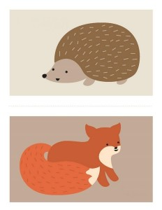hayvanlar dikiş kartı şablonu