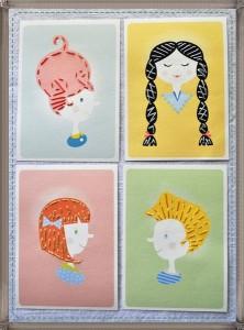 saçlar temalı dikiş kartları (2)