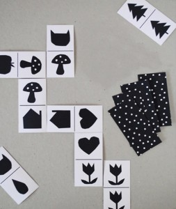 siyah beyaz domino kartları