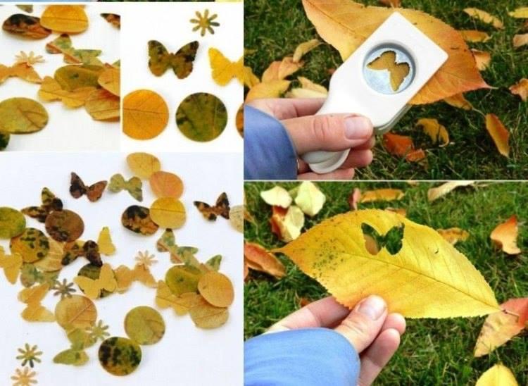 Yapraklar le sanat okul ncesi sanat etkinlikleri for Bastelideen kindergarten herbst