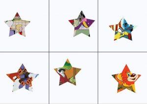 geometrik şekiller ile resim tamamlama oyunu