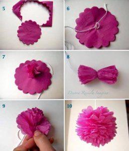 grafon kağıdından çiçek (kalıpları ve yapım aşamasıyla) (2)