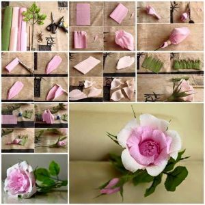 grafon kağıdından çiçek (kalıpları ve yapım aşamasıyla) (4)