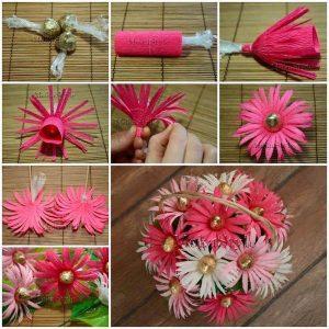 grapon kağıtlarından çiçek yapımı (3)