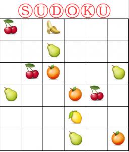 meyveler sudoku çalışması