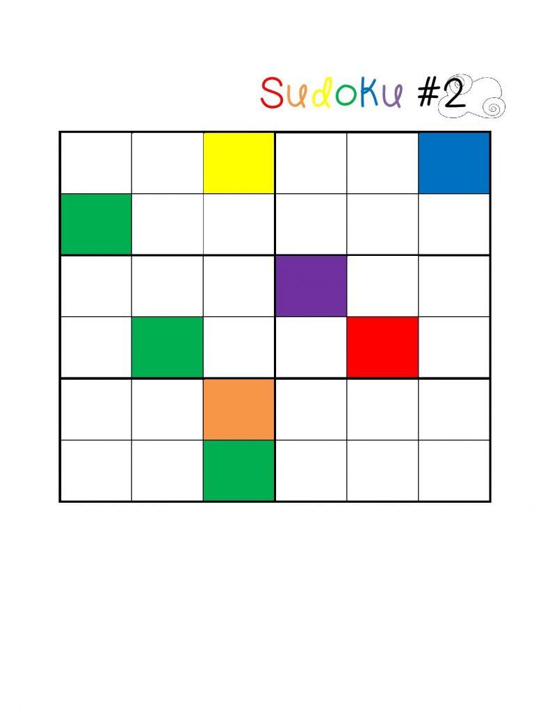 renkli eğlenceli sudoku çalışma sayfaları