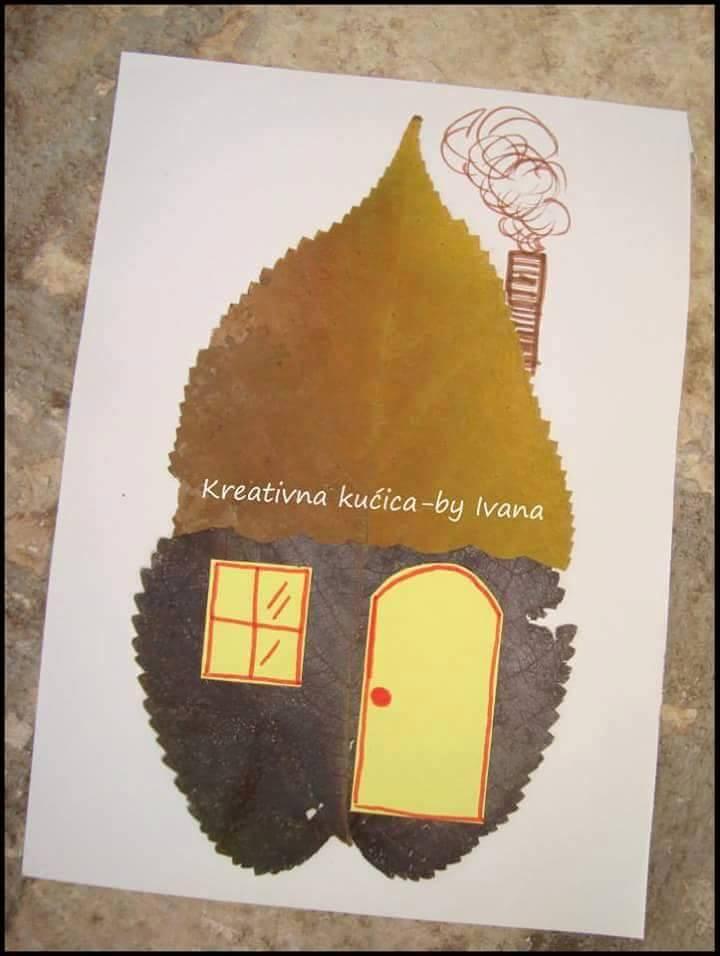 Yapraklar Ile Sanat Okul öncesi Sanat Etkinlikleri Evimin Altın Topu