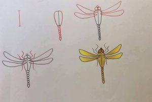harflerden yusufçuk çizimi