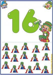 16 sayı kartı