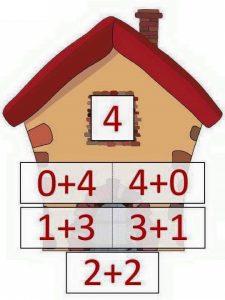 4 toplamını veren sayılar