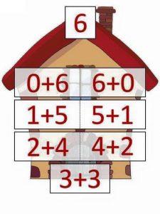 6 toplamını veren sayılar