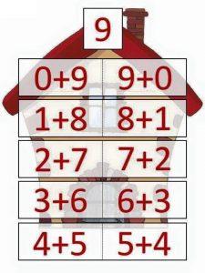 9 toplamını veren sayılar